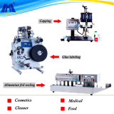 Semi Automatic Capping Labeling Sealing Production Line