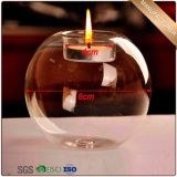Clear Glass Candle Holder for Home Decoration
