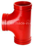 ANSI Class 150 Long Radius Ductile Iron Grooved Equal Tee