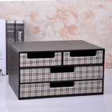 Luxury Grid Leather Office Stationery Drawer Box