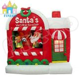 Inflatable Christmas Decoration Cabin for Santa Claus