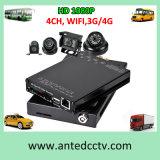 4 Cameras Auto DVR Video Recorder for Car CCTV Surveillance