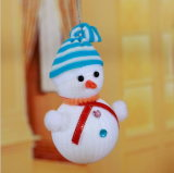 Stripes Ornament Hat Christmas Snowman, Christmas Articles