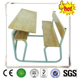 Solid Wood Student Desk and Chair / School Classroom Furniture