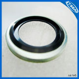 NBR EPDM Silicon FKM NR Rubber O Ring Flat Screw Washer Rubber Bonded Metal Washer
