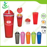 22oz BPA Free as Material Snack Tumbler with Straw (TB-B302)