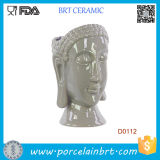 New Urban Trends Buddha Head Ceramic Vase