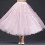 Plain All-Match Cotton&Linen Simple Full Skirt
