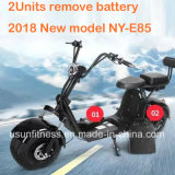 2018 New Design Harley Electric Scooter City Coco with 2units Remove Battery