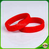Embossed Custom Logo Silicone Wristband for Party
