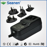 24W Series AC/DC Adapter with Interchangeable Plugs