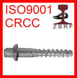 Ss8 Screw Spike, Rail Screw, Railroad Fastener