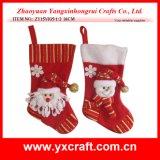 Christmas Decoration (ZY15Y035-1-2) Xmas Promotion Stocking Sock Wholesale