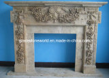 Stone Carving Fireplace for Home Decoration