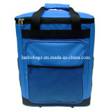 Polyester Trolley Wheels Insulated Picnic Cooler Bag