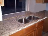 Polished Santa Cecilia Granite Kitchen Countertop