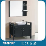 2015 Hot Sale Solid Wood Bathroom Furniture with Mirror