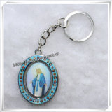 Christmas Gifts: Religious Metal Rose Key Chain (IO-ck072)