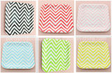 Party Supplies Striped Chevron Polka DOT Paper Plates