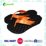 PU Upper with EVA Sole for Embossed Ourline, Lady′s Slippers