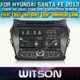 Witson Car DVD for Hyundai Santa Fe 2013 Car DVD GPS 1080P DSP Capactive Screen WiFi 3G Front DVR Camera