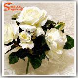 Fake Rose Artificial Flower Arrangements Real Touch Silk Flower