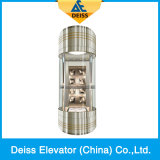 Gearless Traction Safe Observation Panoramic Sightseeing Capsule Glass Elevator