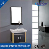 Wall Mounted Steel Bathroom Corner Cabinet with Mirror