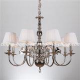 Luxury Design Iron Chandelier Lamp with Fabric Shade (SL2083-8)