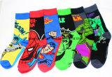 Mens Cotton Socks Marvel Comics Superhero Casual Knee Socks