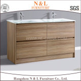 N&L 2017 New Modern PVC Oak Bathroom Cabinet Furniture with Mirror