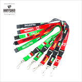 90cm Cheap Promotional Custom Made Silkscreen Lanyard with Plastic Buckle, Decorative Ribbon Screen
