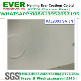 Satin Finish Ral9003 White Color Powder Coating Thermosetting Electrostatic Spray