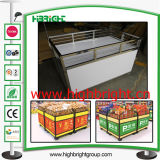 Stainless Steel Collapsible Promotion Table for Supermarket