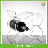 Acrylic Glass Bottle Tray Lucite Triangle Wine Bottle Display Stand