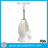 Wholesale Classic White Ceramic Bathroom Brush Holder