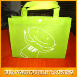 Green Print Shopping Tote Bag