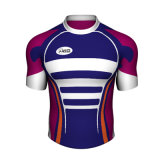 Custom Blue and White Rugby Shirt Rugby Jersey as Your Demands