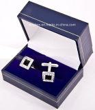 Jy-Cub06 Plastic Leather Wedding Cufflinks Storge Gift Jewelry Packing Box