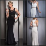 Fashion Chiffon Ladies Dress Mermaid Sash Evening Gown Z207