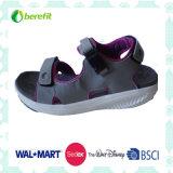 TPR and Soft EVA Sole, PU Upper, Men′s Sporty Sandals.