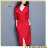 Thin Temperament Half-Sleeve Large Yards Ladies Dress in Business
