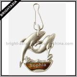 Metal Zipper Pull Dolphin Metal Pendant for Gift (BYH-10406)