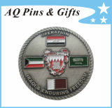 Metal Enamel Coin with Rope Edge, Challenge Coin