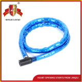 Jq8501 Two Colors Joint Bicycle Lock Motorcycle with PVC Cover
