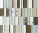 Wave Triangle Glass Tile Mosaic for Foshan Wall Mural