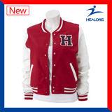 Healong Cheap Cut and Sew Fashion Winter Sportswear Coat Baseball Jacket