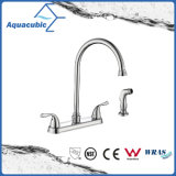 Popular Bathroom Double Handle Nickel Brush Water Faucet (AF0083-6BN)