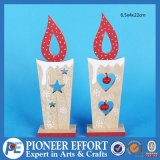 Wooden Candle Shaped Design with Jingle Bell for Home Ornament