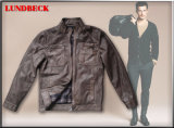 Men ′s Garment Dyeing PU Jacket for Winter Wear